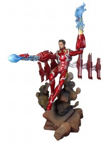 MARVEL GALLERY PVC DIORAMA  AVENGERS INFINITY WAR -  IRON MAN MK 50 UNMASKED