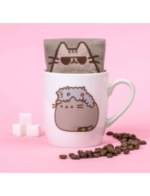 PUSHEEN THE CAT TAZZA CON CALZINI PUSHEEN & STORMY