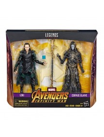 MARVEL LEGENDS SERIES LOKI & CORVUS GLAIVE (15CM)