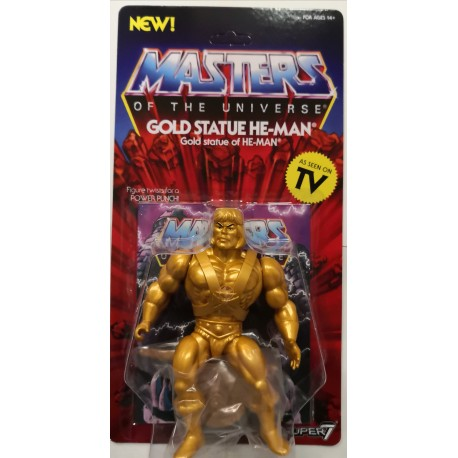 MASTERS OF THE UNIVERSE GOLD STATUE HE-MAN