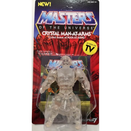 MASTERS OF THE UNIVERSE CRYSTAL MAN-AT-ARMS