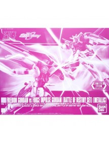 HG GUNDAM COSMIC ERA SCALA 1/144 LIMITED ITEM - FREEDOM GUNDAM VS FORCE IMPULSE GUNDAM