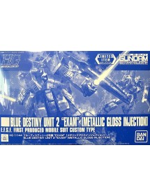 HG GUNDAM UNIVERSAL CENTURY SCALA 1:144 BLUE DESTINY UNIT 2 EXAM (METALLIC GLOSS INJECTION)