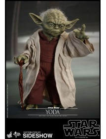 HOT TOYS STAR WARS EPISODE II MOVIE MASTERPIECE ACTION FIGURE YODA