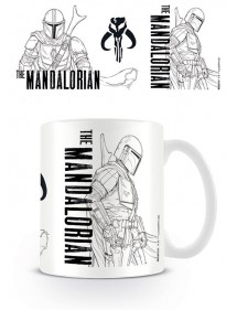 TAZZA STAR WARS THE MANDALORIAN - LINE ART