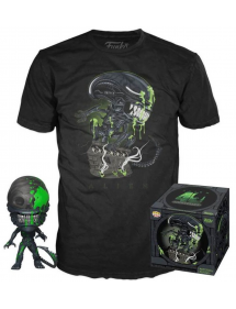 POP MOVIES ALIEN POP & TEE BOX 40TH XENOMORPH EXCLUSIVE TG XL