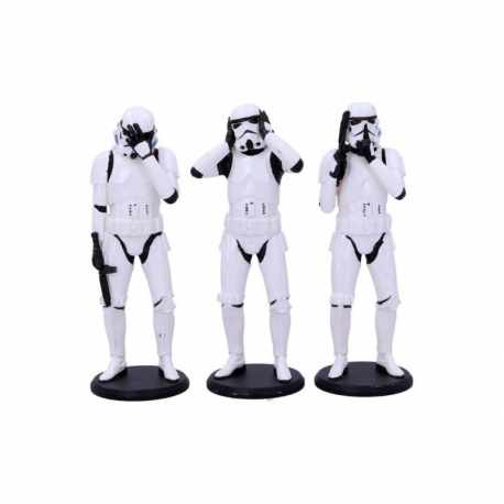 STAR WARS ORIGINAL STORMTROOPER SET OF 3 WISE STORMTROPPERS
