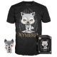 POP TEES GAME OF THRONES STARKS T-SHIRT + FIGURE TG M