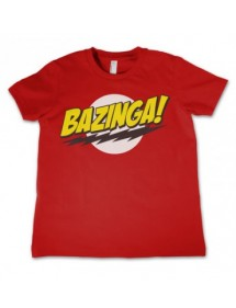 T-SHIRT  BIG BANG THEORY-BAZINGA 4 ANNI