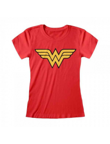 T-SHIRT WONDER WOMAN LOGO ROSSA TG.S