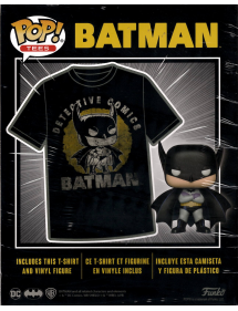 POP TEES BATMAN SUN FADED FIGURE + T-SHIRT TG.M