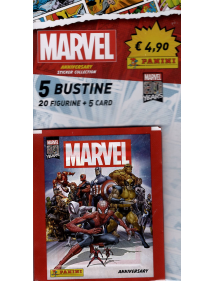 MARVEL ANNIVERSARY 2020 PACK 5 BUSTINE - 20 FIGURINE+ 5 CARD