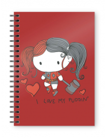 NOTEBOOK HARLEY QUINN - I LOVE MY PUDDIN A5