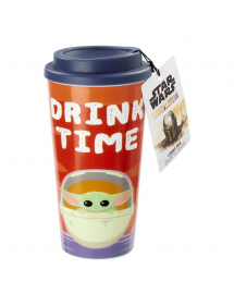 STAR WARS THE CHILD TRAVEL MUG DRINK TIME
