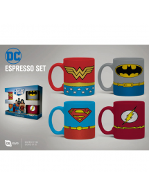 TAZZA DC ESPRESSO MUGS 4 PACK - UNIFORMS