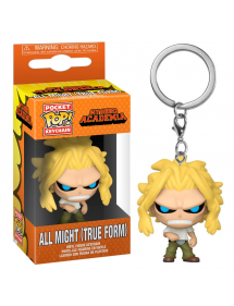 POP POCKET KEYCHAIN MY HERO ACADEMIA - ALL MIGHT TRUE FORM WEAKENED STATE