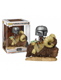 POP STAR WARS 416 THE MANDALORIAN & THE CHILD ON BANTHA 25 CM
