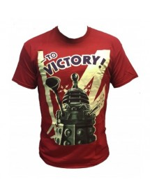 T-SHIRT  DOTTOR WHO - DALEK TO VICTORY  ROSSA TG M