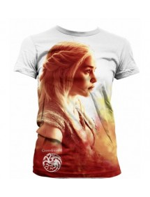 T-SHIRT  GAME OF THRONES - DANAERYS  HEATWAVE TG L