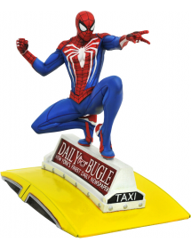 MARVEL GALLERY PVC DIORAMA Spider-Man 2018 Marvel Video Game Spider-Man on Taxi 23 cm